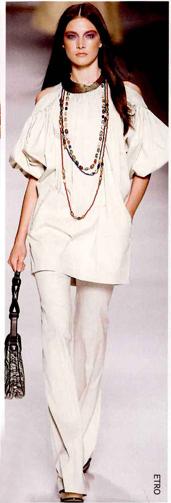 Peasant blouse70年代服饰元素运用