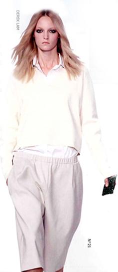 潮人服装休闲简约风格尽显轻松基调之腰身简约设计
