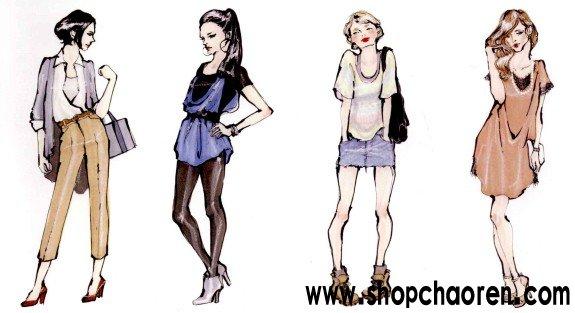 时尚潮人女性的四种具有代表性的流行倾向